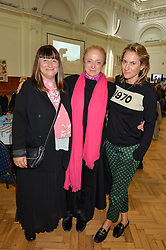 Left to right, MEL AGACE, CAMILLA LOWTHER and CHRISTINE D'ORNANO at a lunch in aid of the charity African Solutions to African Problems (ASAP) held at the Royal Horticultural Hall, Vincent Square, London on 19th May 2016.