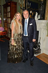 ANDREA BUCCELLATI and LUCREZIA BUCCELLATI at an evenig of Jewellery & Photography to launch the Buccellati 'Opera Collection' held at Spencer House, London on 21st October 2015.