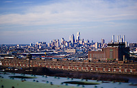 A view of center city Philadelphia from the Walt Whitman Bridge coming from New Jersey.