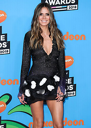 INGLEWOOD, LOS ANGELES, CA, USA - MARCH 24: Nickelodeon's 2018 Kids' Choice Awards held at The Forum on March 24, 2018 in Inglewood, Los Angeles, California, United States. 24 Mar 2018 Pictured: Heidi Klum. Photo credit: Xavier Collin/Image Press Agency / MEGA TheMegaAgency.com +1 888 505 6342