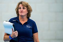 29-09-2018 NED: Supercup Sliedrecht Sport - Eurosped, Sliedrecht<br /> Sliedrecht takes the first price of the new season / Coach Vera Koenen of Sliedrecht Sport