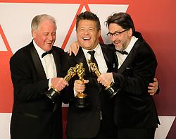 91st Annual Academy Awards - Arrivals. 24 Feb 2019 Pictured: Paul Massey, Tim Cavagin, John Casali. Photo credit: Jaxon / MEGA TheMegaAgency.com +1 888 505 6342
