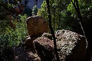 Megalithic site, near the torrent de Diablera, on the mountain of Montserrat, near Barcelona, Catalonia, Spain