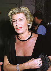 MRS CAROLYN BENSON friend of Camilla Parker Bowles, at a party in London on 9th December 1998.MMU 24