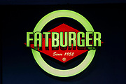 Fatburger sign in Palm Drive, Makati, 1224 Metro Manila, The Philippines.