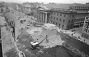 13/03/1966<br /> 03/13/1966<br /> 13 March 1966 <br /> Image shows demolition of remains of Nelson's Pillar on O'Connell Street after it was destroyed by a IRA bomb.