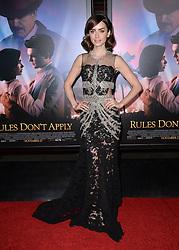 Lily Collins bei der Premiere von Rules Don't Apply in Hollywood<br /> <br /> / 101116<br /> <br /> ***Premiere of Rules Don't Apply in Hollywood in november 10, 2016***