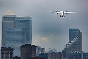 A passenger aircraft is taking off from London City Airport on Monday, July 27, 2020. After the British Government said that anybody travelling to Spain from Britain will now need to self-isolate for 14 days when they return, airlines connecting Britain to Spain have issued guidance to anybody with flights booked to Spain - and says that it will be continuing to operate, despite the new restrictions. (VXP Photo/ Vudi Xhymshiti)