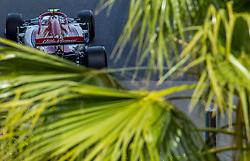 May 25, 2019 - Montecarlo, Monaco - Antonio Giovinazzi of Italy and Alfa Romeo Racing F1 Team driver goes during the qualification session at Formula 1 Grand Prix de Monaco on May 25, 2019 in Monte Carlo, Monaco. (Credit Image: © Robert Szaniszlo/NurPhoto via ZUMA Press)