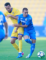 Getafe CF's Tani (r) and AD Alcorcon's Foued Kadir during friendly match. August 9,2017. (ALTERPHOTOS/Acero)