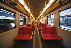 eine leere U-Bahn in Folge des Coronavirus-Ausbruchs in Oesterreich, aufgenommen am 15.03.2020, Wien, Oesterreich // an empty underground as a result of the coronavirus outbreak in Austria, Vienna, Austria on 2020/03/15. EXPA Pictures © 2020, PhotoCredit: EXPA/ Florian Schroetter