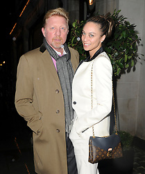 Exclusive.Boris Becker out to dinner with lilly at Scotts in London.©Exclusivepix Media (Credit Image: © Whitehotpix via ZUMA Press)
