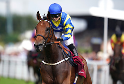 File photo dated 27-07-2021 of Hollie Doyle aboard Trueshan following victory in the Al Shaqab Goodwood Cup Stakes. Trueshan and Stradivarius will renew their rivalry at Ascot on Saturday after both stood their ground for the Qipco British Champions Long Distance Cup. Issue date: Thursday October 14, 2021.