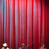 122212       Cable Hoover<br /> <br /> Churchrock-based country band Twang Deluxe performs at the Turquoise Classic Cowboy Christmas concert at El Morro Theatre in Gallup Saturday.
