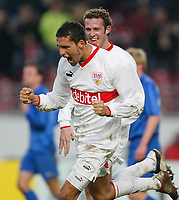 Fotball, 31. januar 2004, Bundesliga, Kevin Kuranyi, Marco Streller Stuttgart<br /> Bundesliga VfB Stuttgart - FC Hansa Rostock