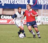 Ingrid Camilla Fosse Sæthre, Norge. Kvinnefotball: Norge - Portugal 5-0, EM-kvalifisering, kvinnelandslaget 2000, 7. mai 2000. (Foto: Peter Tubaas)