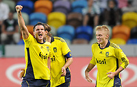 20100819: LISBON, PORTUGAL - Sporting Lisbon vs Brondby: UEFA Europa League 2010/2011 Play-Offs - First Leg. In picture:  Jan Kristiansen (Brondby, L) celebrating goal with team mates. PHOTO: Alexandre Pona/CITYFILES
