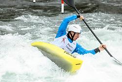 Martin Srabotnik of Slovenia competes during the Kayak Single (K1) men race in Semifinal of European Open Canoe Slalom Cup on April 18, 2021 in Tacen, Ljubljana, Slovenia. Photo by Vid Ponikvar / Sportida