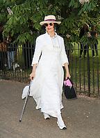 Bianca Jagger, The Serpentine Gallery - summer party, The Serpentine Gallery, London UK, 01 July 2014, Photo by Richard Goldschmidt