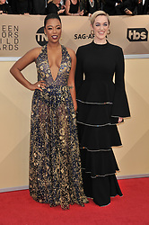 Samira Wiley arrives at the 24th annual Screen Actors Guild Awards at The Shrine Exposition Center on January 21, 2018 in Los Angeles, California. <br />