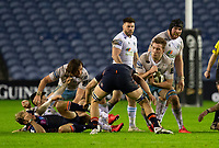 Rugby Union - 2020 / 2021 Guinness Pro-14 - Edinburgh vs Glasgow Warriors - Murrayfield<br /> <br /> Matt Fagerson of Glasgow Warriors is tackled by Jamie Ritchie of Edinburgh Rugby<br /> <br /> COLORSPORT/BRUCE WHITE