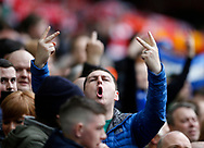 Everton fans give a warm welcome during the English Premier League match at Anfield Stadium, Liverpool. Picture date: April 1st 2017. Pic credit should read: Simon Bellis/Sportimage