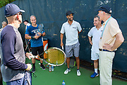 Photography ©Mara Lavitt<br /> August 24, 2018<br /> <br /> The Swensen/Salovey Golf/Tennis Extravaganza. Tennis on the Yale Practice Courts and cocktail reception at the Connecticut Tennis Center.