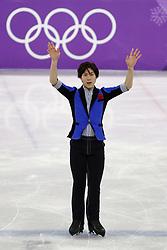 February 17, 2018 - Pyeongchang, KOREA - Keiji Tanaka of Japan competing in the men's figure skating free skate program during the Pyeongchang 2018 Olympic Winter Games at Gangneung Ice Arena. (Credit Image: © David McIntyre via ZUMA Wire)