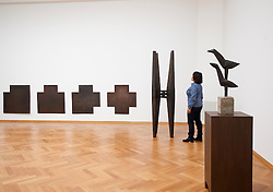 Sculptures by Carel Visser at the Gemeentemuseum in The Hague, Den Haag,  Netherlands