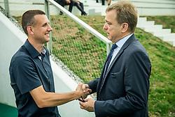 Tomaz Petrovic of NK Krsko and Bojan Ban of NK Maribor  during NZS Draw for season 2016/17, on June 24, 2016 in Brdo pri Kranju, Slovenia. Photo by Vid Ponikvar / Sportida