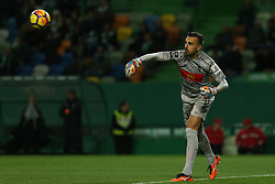 December 17, 2017 - Lisbon, Lisbon, Portugal - Portimonense's goalkeeper Ricardo Ferreira during Premier League 2017/18 match between Sporting CP and Portimonense SC,.at Alvalade Stadium in Lisbon on December 17, 2017. (Credit Image: © Dpi/NurPhoto via ZUMA Press)