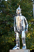Statue of the Tin Man from the Wizard of Oz in Oz Park in Chicago, IL, USA.