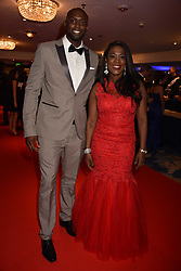 Tessa Sanderson and Tyrone Andrews at the Chain of Hope Gala Ball held at the Grosvenor House Hotel, Park Lane, London England. 17 November 2017.<br /> Photo by Dominic O'Neill/SilverHub 0203 174 1069 sales@silverhubmedia.com