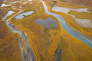 Rapa valley river, Rapaätno, Sarek National Park, Laponia Unesco World Heritage Site, Norrbotten, Lapland, Sweden