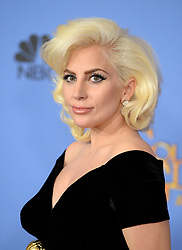 Lady Gaga attends the press rooom of the 73rd Annual Golden Globe Awards held at the Beverly Hilton Hotel on January 10, 2016 in Beverly Hills, California. Photo by Lionel Hahn/AbacaUsa.com  | 529745_071 Los Angeles Etats-Unis United States