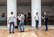 Milan, SDA Bocconi School of Management,  Arnstein Aassve - Dean Undergraduate School, a test lesson based on the speed date principle. Velodromo building