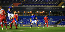 Birmingham City's Robert Tesche (second left) scores his side's fourth goal of the game against Crawley Town