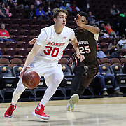 Ryan Funk, Marist, in action during the Marist vs Brown Men's College Basketball game in the Hall of Fame Shootout Tournament at Mohegan Sun Arena, Uncasville, Connecticut, USA. 22nd December 2015. Photo Tim Clayton