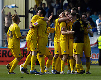 Photo: Jed Wee/Sportsbeat Images.<br /> Hartlepool United v Bristol Rovers. Coca Cola League 2. 05/05/2007.<br /> <br /> Bristol Rovers celebrate at the final whistle as they clinch a playoff place.