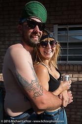 "Rod ""Grimey"" Davis at Willie's Tropical Tattoo ""Chopper Time"" old school chopper show during Daytona Bike Week's 75th Anniversary event. Ormond Beach, FL, USA. Thursday March 10, 2016.  Photography ©2016 Michael Lichter."