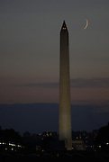 The Washington Monument on August 1, 2011 at sunset.