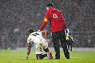England's Semesa Rokoduguni down - QBE Autumn Internationals - England vs New Zealand - Twickenham Stadium - London - 08/11/2014 - Pic Charlie Forgham-Bailey/Sportimage