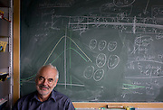Blackboard workings by Mathematician and Risk guru, Professor Sir David Spiegelhalter at the Centre for Mathematical Sciences at the University of Cambridge. <br /> <br /> From the chapter entitled 'Possible Futures' and from the book 'Risk Wise: Nine Everyday Adventures' by Polly Morland (Allianz, The School of Life, Profile Books, 2015).