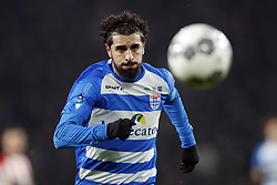 Youness Mokhtar of PEC Zwolle during the Dutch Eredivisie match between PSV Eindhoven and PEC Zwolle at the Phillips stadium on February 03, 2018 in Eindhoven, The Netherlands
