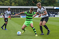 Forest Green Rovers Christian Dioge (9) holds the ball up during the Vanarama National League match between Dover Athletic and Forest Green Rovers at Crabble Athletic Ground, Dover, United Kingdom on 10 September 2016. Photo by Shane Healey.