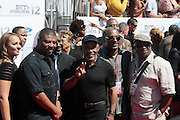 June 30, 2012-Los Angeles, CA : Maze featuring Frankie Beverly attend the 2012 BET Awards held at the Shrine Auditorium on July 1, 2012 in Los Angeles. The BET Awards were established in 2001 by the Black Entertainment Television network to celebrate African Americans and other minorities in music, acting, sports, and other fields of entertainment over the past year. The awards are presented annually, and they are broadcast live on BET. (Photo by Terrence Jennings)