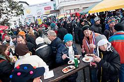"Fans at FIS Alpine Ski World Cup 7th Ladies' Giant Slalom race named ""49th Golden Fox 2013"", on January 26, 2013 in Mariborsko Pohorje, Maribor, Slovenia. (Photo By Vid Ponikvar / Sportida.com)"