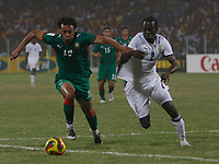 Photo: Steve Bond/Richard Lane Photography.<br /> Ghana v Morocco. Africa Cup of Nations. 28/01/2008. Hans Adu Sarpei (R) defends against Tarik Sektioui (L)