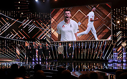 James Anderson is interviewed on stage by Gary Lineker during the BBC Sports Personality of the Year 2018 at Birmingham Genting Arena.