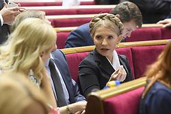 September 5, 2017 - Kiev, Ukraine - Yuliya Timoshenko during a session of Parliament, Kyiv, Ukraine 08-09-2017  (Credit Image: © Maxym Marusenko/NurPhoto via ZUMA Press)